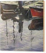 Barcas en puertochico-Santander Wood Print