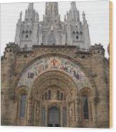 Barcelona - Temple Expiatori Del Sagrat Cor Wood Print
