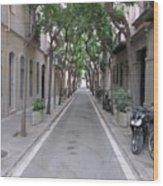 Barcelona Barrio Wood Print