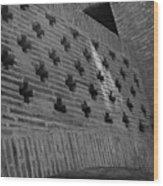 Barcelona Brick Wall Wood Print