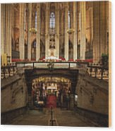 Barcelona Cathedral High Altar And St Eulalia Crypt Wood Print