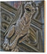 Barcelona Dragon Gargoyle Wood Print