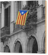 Barcelona - Estelada Wood Print