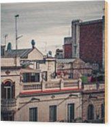 Barcelona Roofscape Wood Print