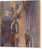 Barcelona Shadows Wood Print