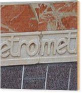 Barcelona Spain Metro Sign Wood Print