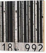 Barcode #19 Wood Print