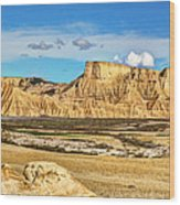 Bardenas Desert Panorama 3 Wood Print