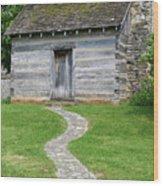 Bardstown Log School House Wood Print