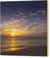 Barefoot Beach Preserve Sunset Wood Print