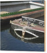 Barge Love Wood Print