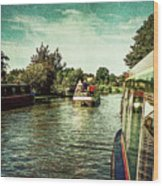 10946 Cruising On The Grand Union Canal Wood Print