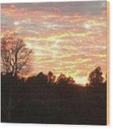 Barium Springs, Nc Sunset Wood Print