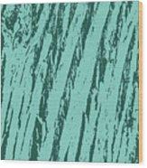 Bark Texture Turquoise Wood Print