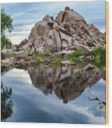 Barker Dam Reflection Wood Print
