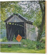 Barkhurst Covered Bridge  Wood Print