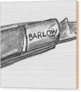 Barlow Knife Well Used Wood Print