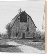Barn 10 Wood Print by Joel Lueck