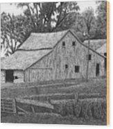 Barn 14 Wood Print