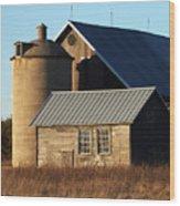 Barn At 57 And Q Wood Print