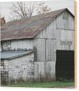 Barn At Clover Bottom Wood Print