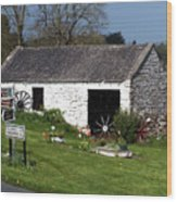 Barn At Fuerty Church Roscommon Ireland Wood Print