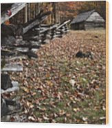 Barn At Jim Bales Place Wood Print