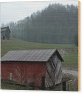 Barn At Stecoah Wood Print