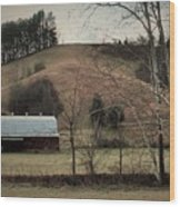 Barn At The Bottom Of The Hill Wood Print