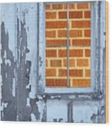 Barn Brick Window Wood Print