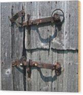 Barn Door Latches Wood Print