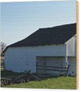 Barn Gettysburg Battle Field Wood Print