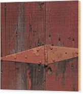 Barn Hinge Wood Print by Garry Gay