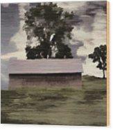 Barn II A Digital Painting Wood Print