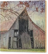 Barn Of The Indian Summer Wood Print