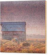 Barn In Early Light  Wood Print