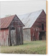 Barn In Kentucky No 100 Wood Print