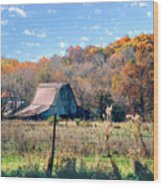 Barn In Liberty Mo Wood Print