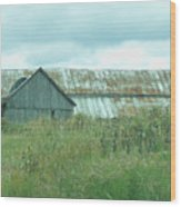Barn In Softness Of Nature Wood Print