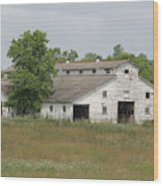 Barn In The Field 948 Wood Print