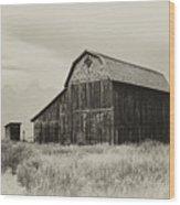Barn In The Grand Tetons Wood Print
