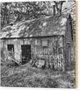 Barn In The Ozarks B Wood Print