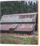 A Colorado Barn In Summer Wood Print