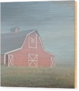 Barn, Longmont, Colorado Wood Print