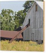 Barn Lot Wood Print