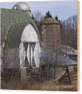 Barn On 29 Wood Print