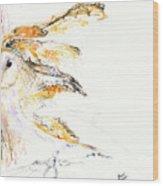 Barn Owl And Tree Wood Print