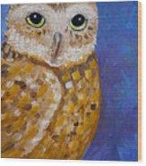 Barn Owl- Impressionism- Owl By Night Wood Print