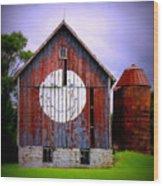 Barn Smile Wood Print