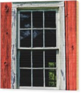 Barn Window Closeup At Old World Wisconsin Wood Print